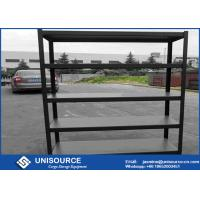 Wholesale Bolt - Free 5 Tier Storage Shelf , Boltless Steel Shelving With Black Wrinkle Step Beam from china suppliers