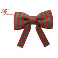 Wholesale Striped Grosgrain ribbon christmas wrapping bows Vivid color Printing from china suppliers