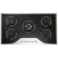 Wholesale Mirror Tempered Glass Top 5 Burner Gas Cooker 90cm Gas Hob With Metal Knob from china suppliers