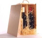 Wholesale Handmade Unfinished Wooden Wine Box With Slid Lid Two Bottle Use from china suppliers