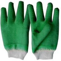 Wholesale Blue Economy woven cotton lining with fully coated Latex Coated Glove for men RBCT from china suppliers