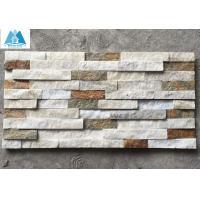 Buy cheap Mixed Colors Quartzite Ledgestone Panels Cultured Stone Veneer Stone Wall Cladding Panels from wholesalers