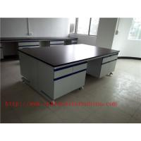 Wholesale 3750 mm  Wood Frame Blue /  White Science Lab Testing Tables Furniture For High School Lab from china suppliers
