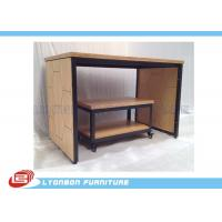 Wholesale Eco Friendly Durable MDF Metal Display Tables With LOGO Sticker ISO Certificate from china suppliers