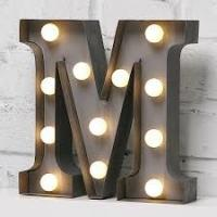 "Wholesale Silver LED 9"" Carnival Letter Lights Vintage Circus Style Alphabet Light Up The Party from china suppliers"