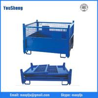 Buy cheap Foldable steel collapsible metal wire mesh container warehouse storage cages from wholesalers