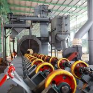 China High Speed Pipe Shot Blasting Machine , Industrial Sand Blasting Machine Anti Fatigue on sale