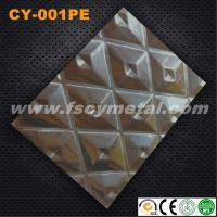 Wholesale Decorative stainless steel stamping sheet for wall panel decoration CY-001PE from china suppliers