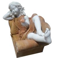 Quality Child marble sculpture,colorful marble sculpture for garden,china sculpture supplier for sale