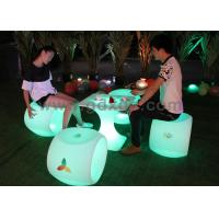 Wholesale New arrive LED lighted PE material colored white stool with 16 colors from china suppliers