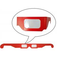 Wholesale Anaglyphic Stereoscopic Chromadepth 3D Glasses,Red Cardboard 3D Glasses Cheap Wholesale from china suppliers