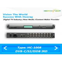 Wholesale 8 Turner FTA IRD Digital TV Satellite Receiver Support DVB-C DVB-S / S2 With 1000Mb Ethernet Ports from china suppliers