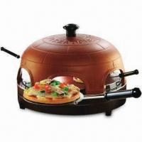 Wholesale Pizza Dome, Made of Red Stoneware, Including Dough Cutter and Stainless Steel Spatulas from china suppliers