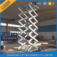 Wholesale Hot Dip Galvanized Stationary Hydraulic Scissor Lift , Cargo Loading Industrial Lift Tables from china suppliers