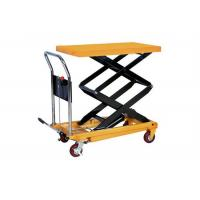 Wholesale Flat Steel Plate Manual Hydraulic Lift Double Scissor Lift Table OEM / ODM from china suppliers