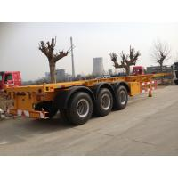 Wholesale 2 / 3 Axles Skeleton Container Semi Trailer Trucks , container transport from china suppliers