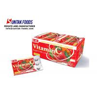 Wholesale Functional Chewable Vitamin C Tablets , Sugar Free Confectionery Strawberry Sweets from china suppliers
