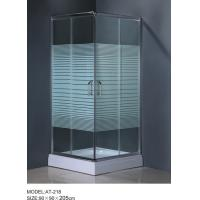 Wholesale 6m door thickness Corner Shower Enclosures square shower stall stripe glass from china suppliers