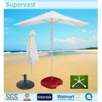 Wholesale Professional White 6 Ribs Frozen Beach Sun Shade Umbrella UV Resistant from china suppliers