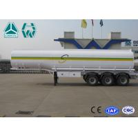 Quality Sinotruk Howo Carbon Steel Tri - axle crude oil trailers One Compartment Emergency Valve for sale