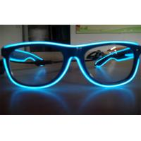 Wholesale Electroluminescent Full Frame El Wire Glasses / Sunglasses With Cool Lighting Blue Color from china suppliers