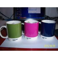 Quality Export PANTONE colors fashion cup 376C.numbers wholesale the ceramic mug for sale