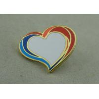 Wholesale Personalised Heart Shape Badge Zinc Alloy Hard Enamel Pin With Enamel from china suppliers