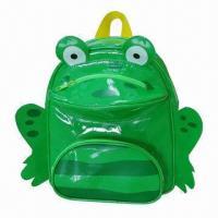 Wholesale Kid's School Backpack, Sized 27 x 23 x 9.5cm, Shiny PVC Leather with 210D Lining, Very Cute Style from china suppliers
