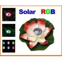 Wholesale Solar Colorful LED Lotus Lamp Floating Rotating Pond Light from china suppliers