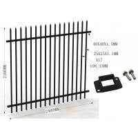 Wholesale Garrison Tubular Fence 1800mm x 2400mm stain black powder from china suppliers