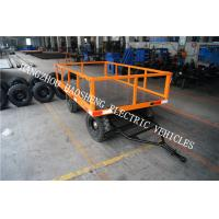 Wholesale 1400mm Wheelbase Small Flatbed Trailer Fence Yellow For Material Transport PT-2 from china suppliers