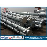 Wholesale Low Voltage Distribution Electrical Power Poles with Cross Arms for Overhead Project from china suppliers