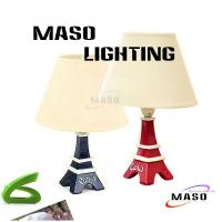 Wholesale MASO LED Resin Toy Table Lamp Paris Tower Stand Black and White Color MS-T4001 E14 Base from china suppliers