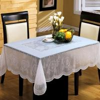 Wholesale White PVC Table Cloth Easy Clean , Elegant Table Cover For Dining Room from china suppliers