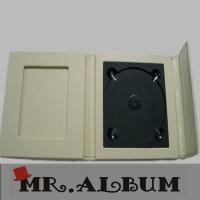 Wholesale Ivory faux leather wedding CD case with magnet_single CD case with overlapping cover from china suppliers