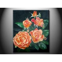 Wholesale Eco - Friendly Wood Board Landscape Paint Hand made Oil Painting with Flower XSHH107 from china suppliers