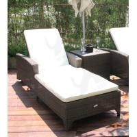 RE-CL03-2 wicker lounge with adjustable back outdoor wicker chair design