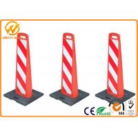 Wholesale Reflective Vertical Traffic Delineator Post Bollard With Rubber Base For Roadside Safety Warning from china suppliers