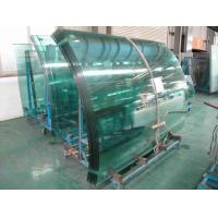 Wholesale Low Emissivity curved tempered safety glass buildings with flat edge from china suppliers
