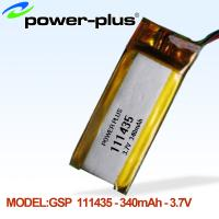 Wholesale 3.7v 111435/340(mAh) lithium polymer battery from china suppliers