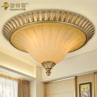 Wholesale Glass Wrought Iron Ceiling Chandelier / Resin Ceiling Lighting Fixture from china suppliers