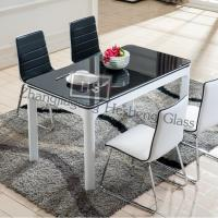 Wholesale 10MM black tempered glass as modern dining table top from china suppliers