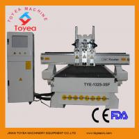 Wholesale Three spindles pneumatic tool changer wood cnc router with feeding system,air coolen ,DSP control system  TYE-1325-3SF from china suppliers