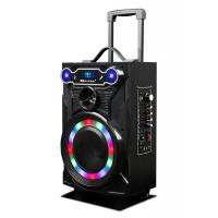 Quality Led Lights Wooden Portable Wireless PA System With Trolley / Bluetooth Function for sale