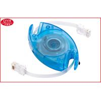 Wholesale Blue 150cm high speed Retractable Phone Cord RJ45 Transmission Cable from china suppliers
