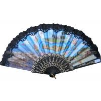 Wholesale Costom Printed Lace Hand Fans for Wedding with Scenic Spot  Design from china suppliers