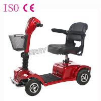 Wholesale Rent Four Wheel Disabled Electric Scooters Red Frame 24V 20Ah Battery Powered from china suppliers
