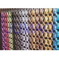 China Aluminium Metal Chain Link Curtains Insect Fly Door Blinds Screen Pest Control on sale