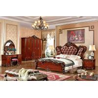Wholesale A6012; leather bed, bedroom set,Royal style bedroom furniture,hotel furnitue,bed side table,dresser,Night stand,wardrobe from china suppliers