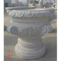Wholesale Grey Granite Flowerpot, Exquisite Grey Garden Stone from china suppliers
